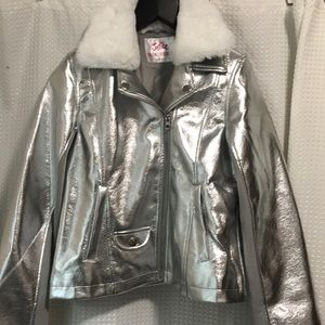 Silver coat for girls